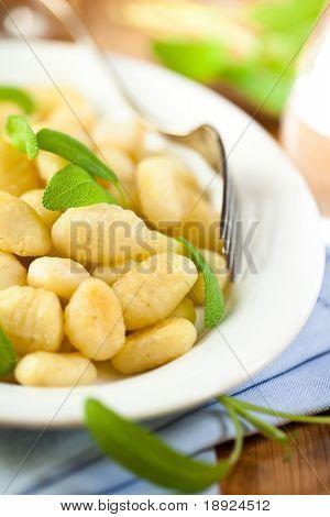 Italian gnocchi with fresh sage