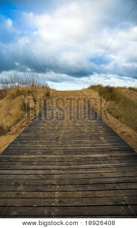 road leading to the sky