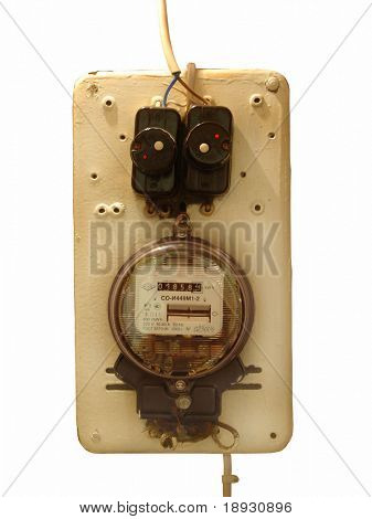 old electricity supply meter