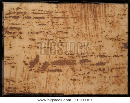 rusty metal background with black border