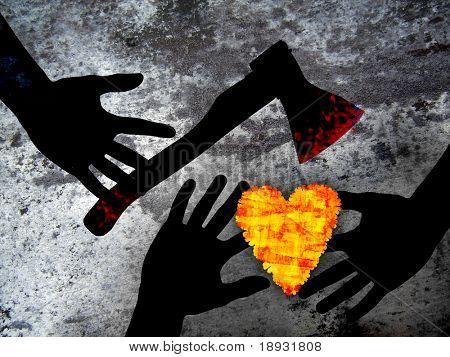 Criminal love: Heart & axe
