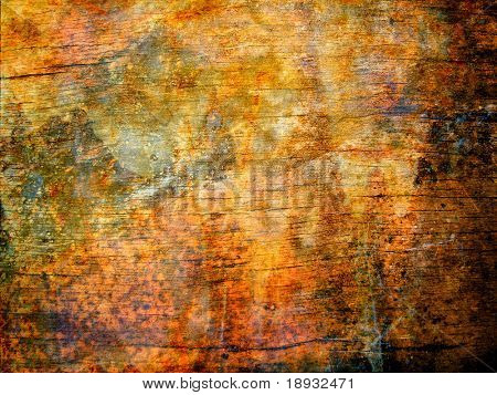 Grunge rusty brown surface, background