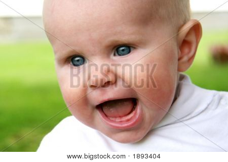 Baby Taken Closeup With Mouth Open