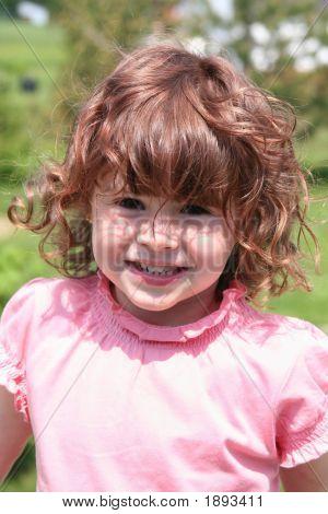 Girl Taken Closeup With Red Hair