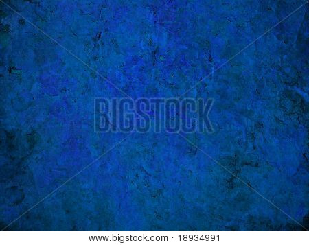 blue cracked wall surface, grunge background