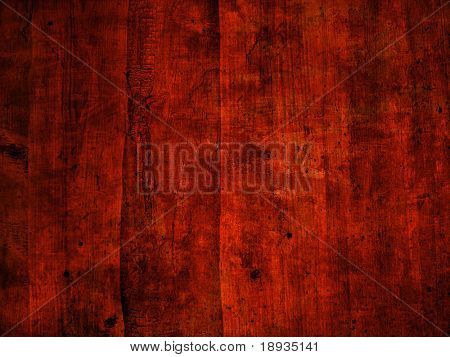 Red old wooden background