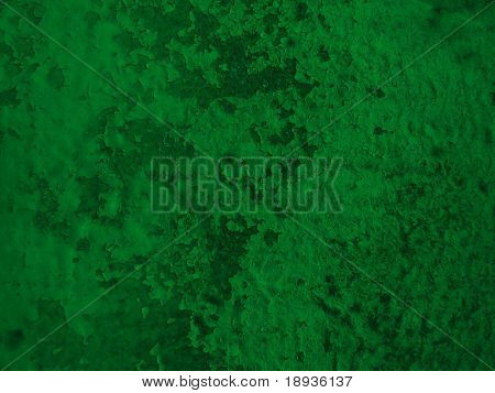 peeled painted green background