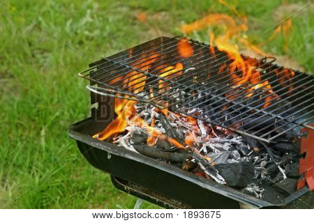 Grill On The Green Grass