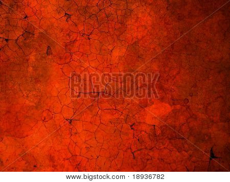 red cracked wall background