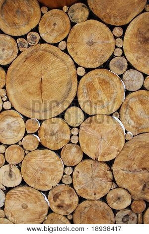 Stacked Logs Background