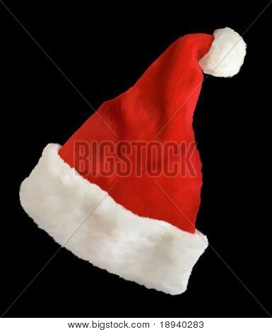 Santa Claus cap. christmas design. Computer Graphic. 2D Design.