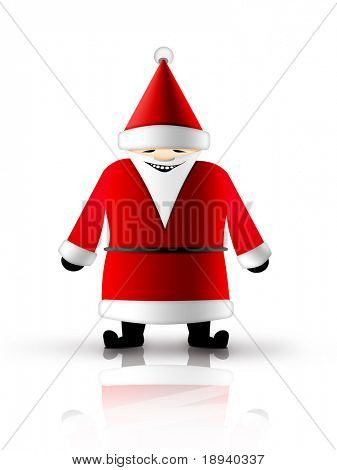 Christmas and New Year background. Santa Claus. 2D graphic. Computer Design.