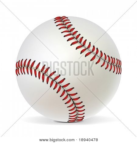Baseball ball isolated on white background. Vector.