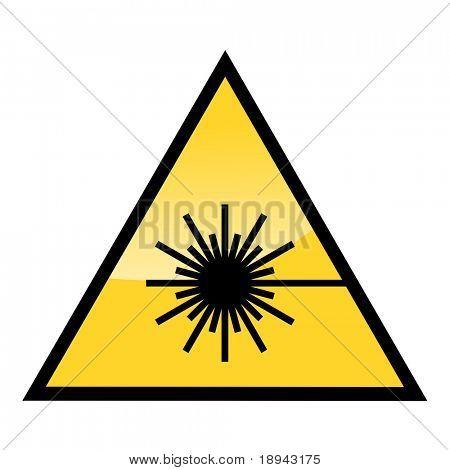 caution laser beam warning sign