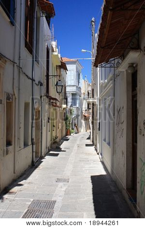 alley in old town on Crete