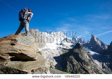 Dreaming the next climbing; Mont Blanc, italian side, Courmayeur, Italy.