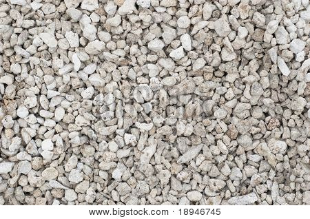 small crushed stones (road metal) material. textured background.