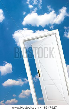 Door one blue sky