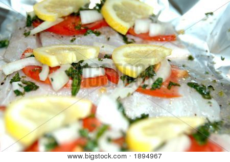 Barramundi With Lemon & Tomato