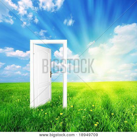 Tür zu neuen Welt. Siehe auch verschiedene Versionen dieses tolles Konzept!