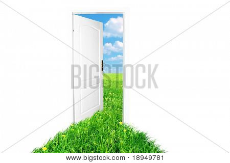 Door to new world. Spring summer version 2. Easy editable image.