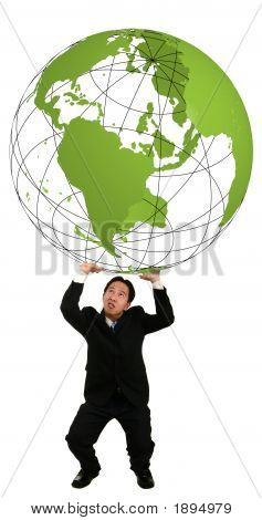 Holding Up 3D Globe 2