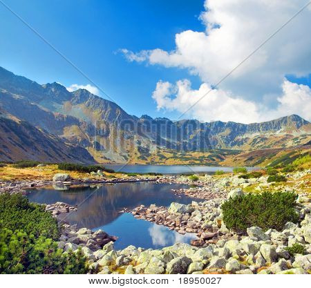 Mountains landscape. Tatra colorful picture