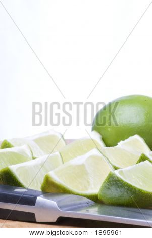 Fresh Lime Wedges (Vertical)