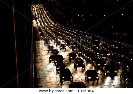 Oncoming Night Traffic
