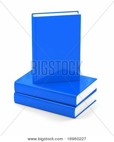 Blue Books Over White