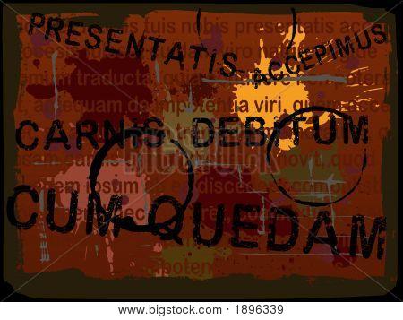 Lateinischer Text Grunge Hintergrund 4