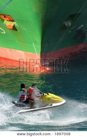 Ship And Jet Ski