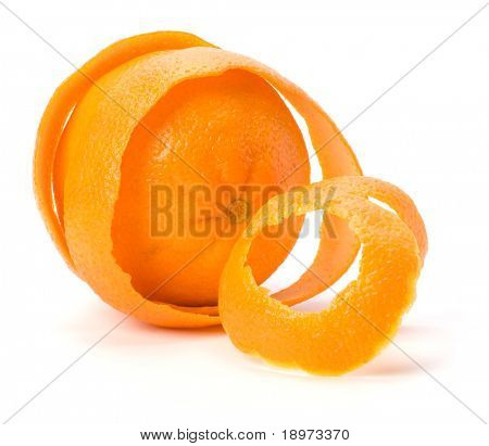 Orange mit doppelt Hautschicht, isolated on white Background. Schutz und Sicherheit-Konzept.