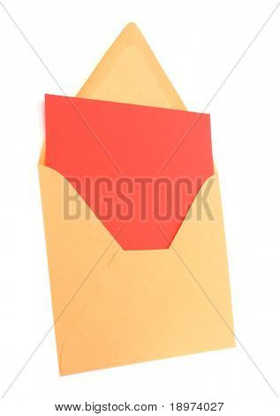 envelope with card isolated on white background