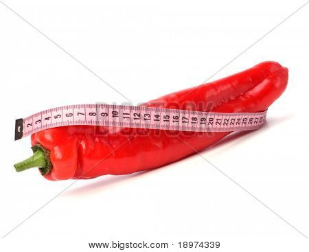 sexy pepper isolated on white background