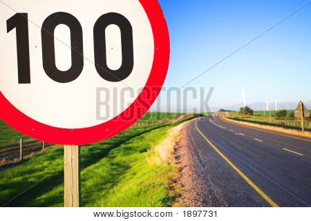 Road Sign For Speed Limit