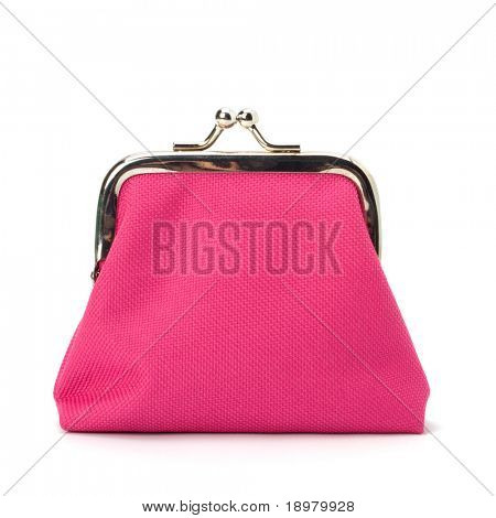 Glamour purse  isolated on white background