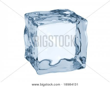 3D render of ice cube.