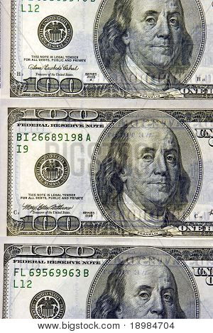 Watermarks on money us dollars
