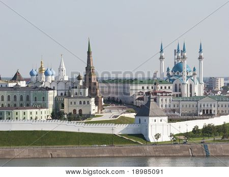 Kremlin in Kazan, Suumbike Tower Tatarstan symbol, Russian Federation
