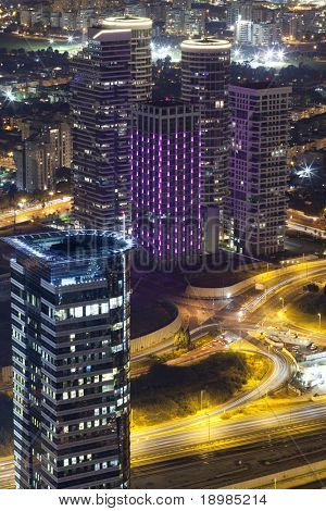 Luxury buildings in Tel Aviv / Luxury residential skyscrapers in Tel Aviv