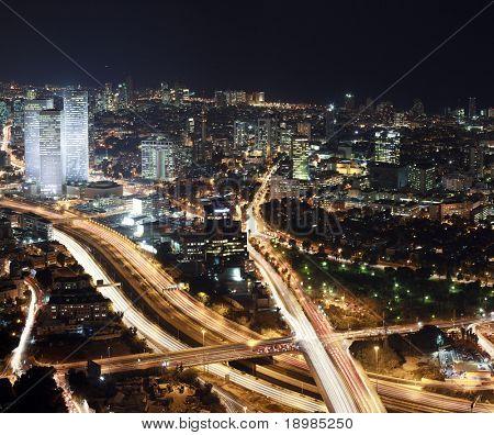 Tel Aviv Skyline at night, Israel