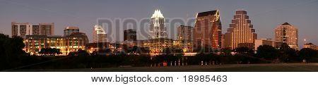 Eine sehr schöne Nacht in Austin, Texas.