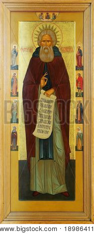 Icon on wood of the Holy Father Sergius Of Radonez