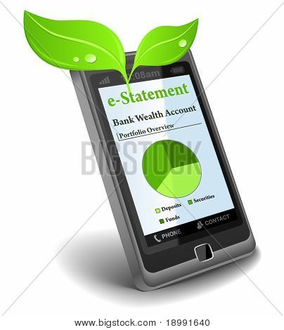 e-Statement on cell phone