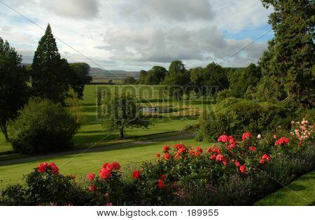 Classical Garden In Scottish Estate