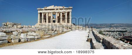 Panorama of Parthenon - Athens