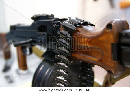 Close-Up Of Soviet Machine-Gun Rpd-44 V
