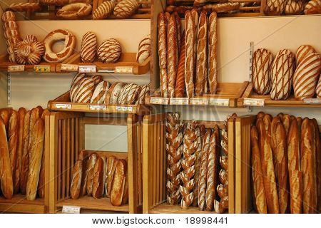 Bread store in france.