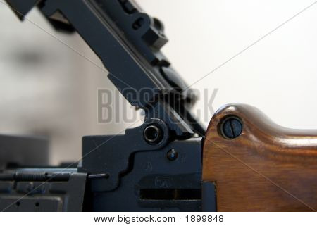 Close-Up Of Soviet Machine-Gun Rpd-44 Ix